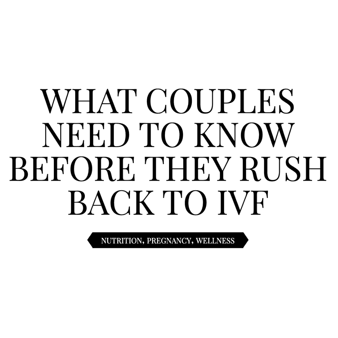 what couple need to know before ivf
